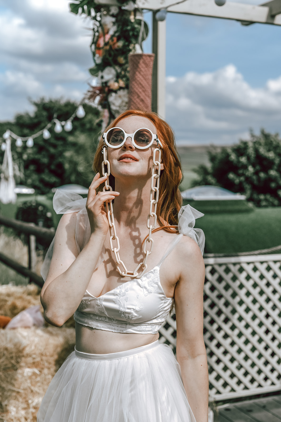 rustic festival wedding - wedding glasses - unique wedding wear - unique bridal look - alternative bridalwear