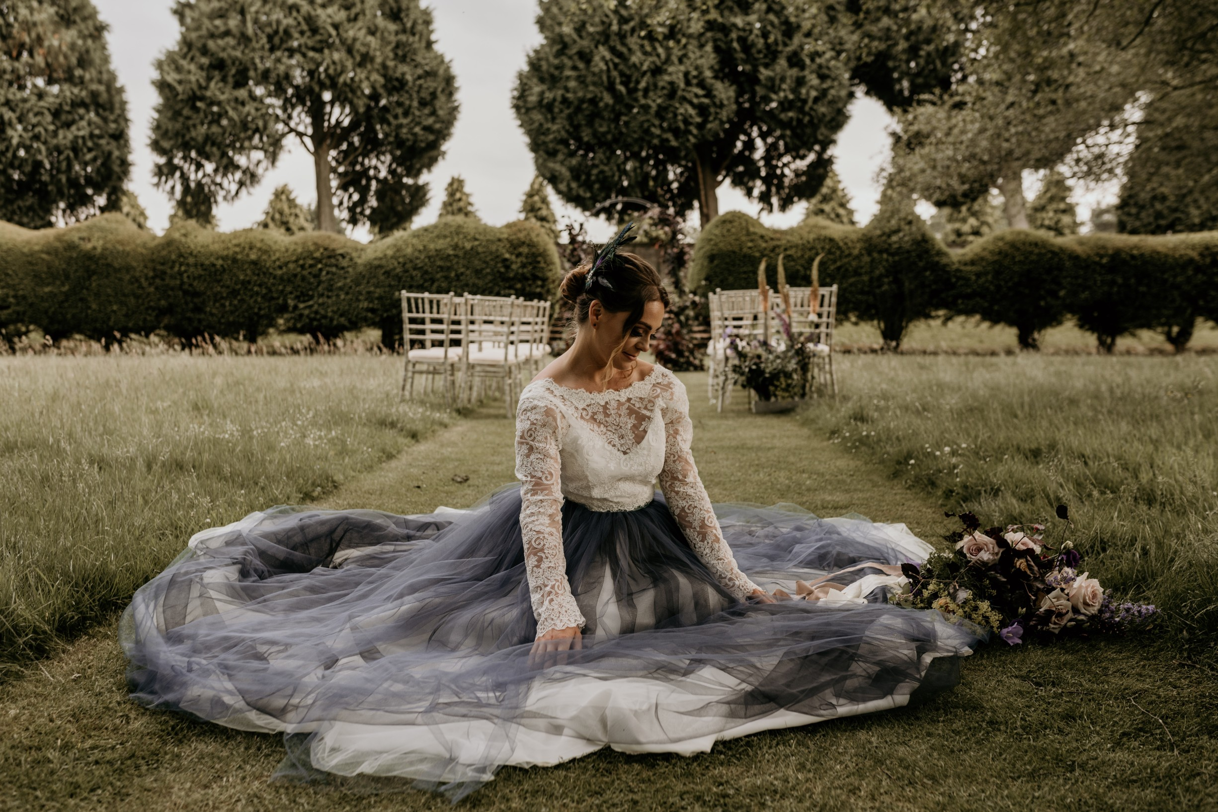unique wedding dress - alternative wedding dress - coloured wedding dress - black wedding dress - alternative bridal wear - unconventional wedding