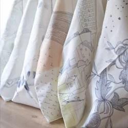 rideau a rayures motif marseillais