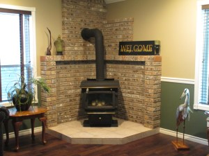 Sip on some local wine in the living room and let the fireplace warm you up