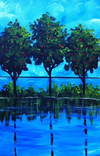 Apple Trees (2-piece couple's painting)