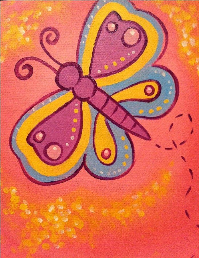 Kids Pink Butterfly