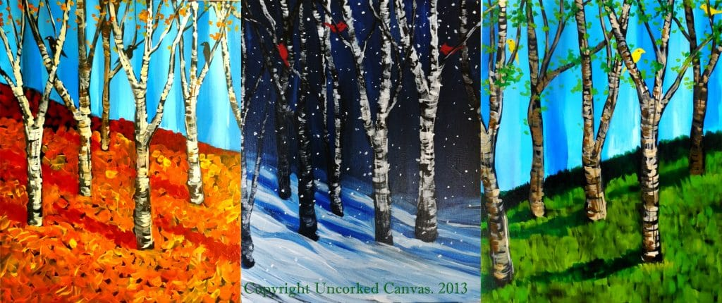 TRIPTYCH Fall – Winter – Spring (3 separate pieces)