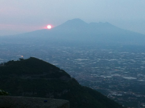vesuvius sunset