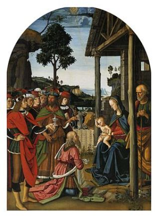 Adoration of the Magi by Perugino c. 1505