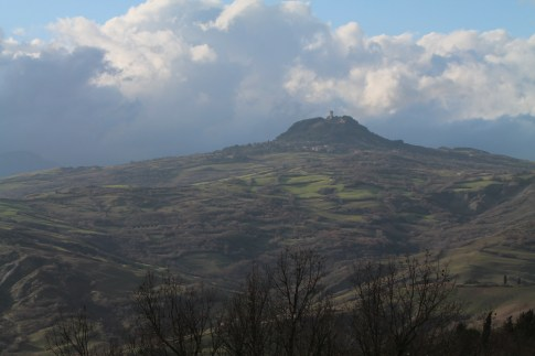 View of Radicafoni from Il Poggio