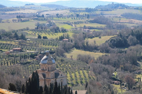 The glorious San Biago stands at the base of Montepulciano