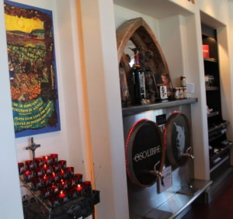 Eclectic and spiritual tasting room at Oso Libre is as interesting as the wines!