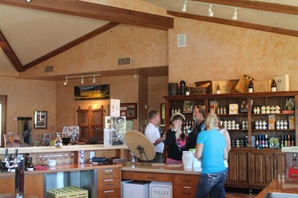 New tasting room at Talley Vineyards