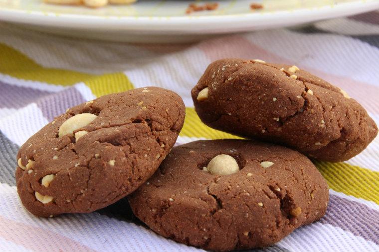Cookies chocolat et cacahuètes végane et sans gluten