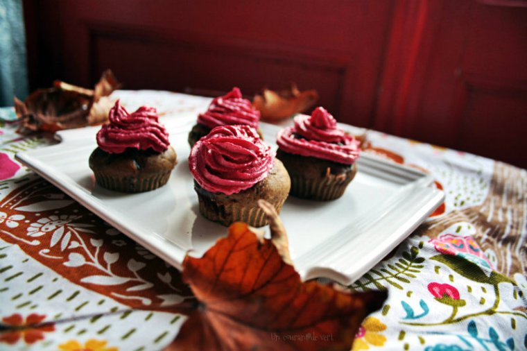Cupcakes betterave et cranberries