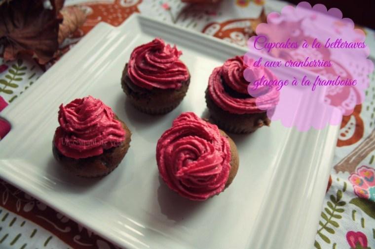 Cupcakes véganes à la betterave