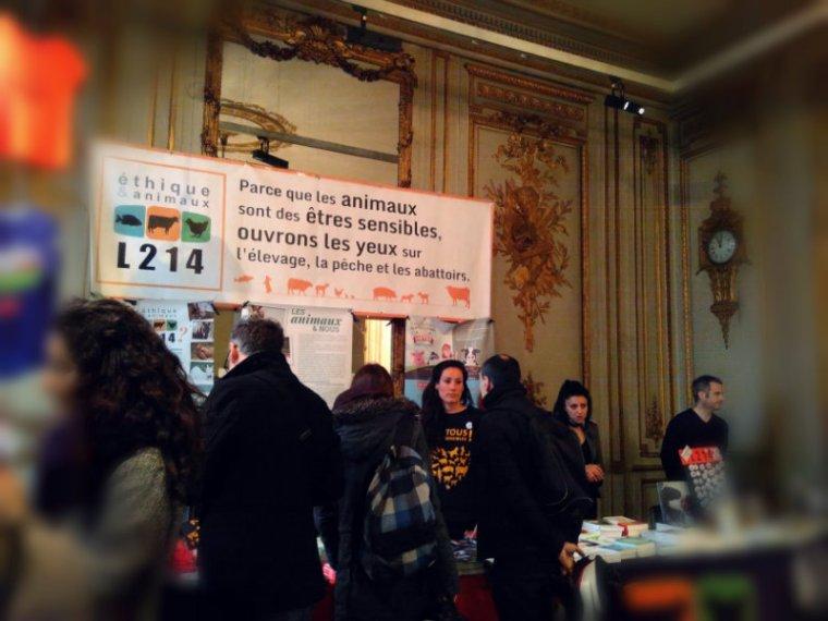 Association L214 au salon Alternatives véganes