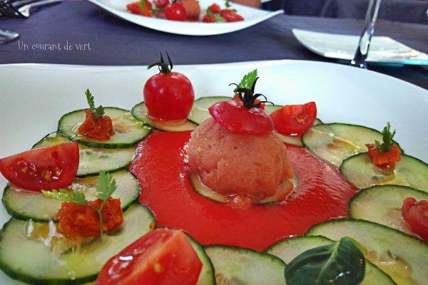 Tomate en déclinaison à la table de Florensac