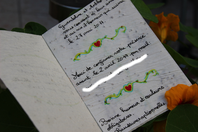 intérieur faire-part papier écologique