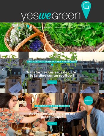 Yes we green pour partager les bonnes initiatives locales