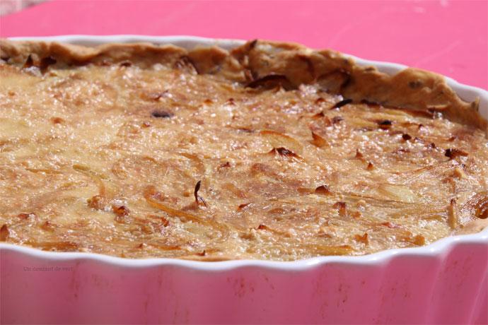 Recette de tarte aux oignons végane