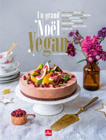 Couverture livre de recettes de noël véganes