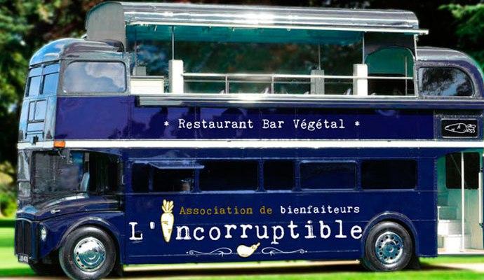 Bus l'incorruptible, foodtruck végétalien à Compiègne