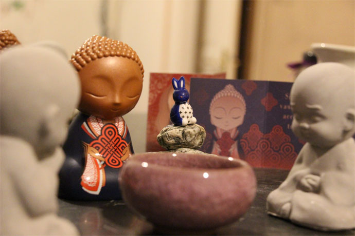 Illustration fasting avec buddha