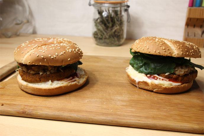 burgers veggies