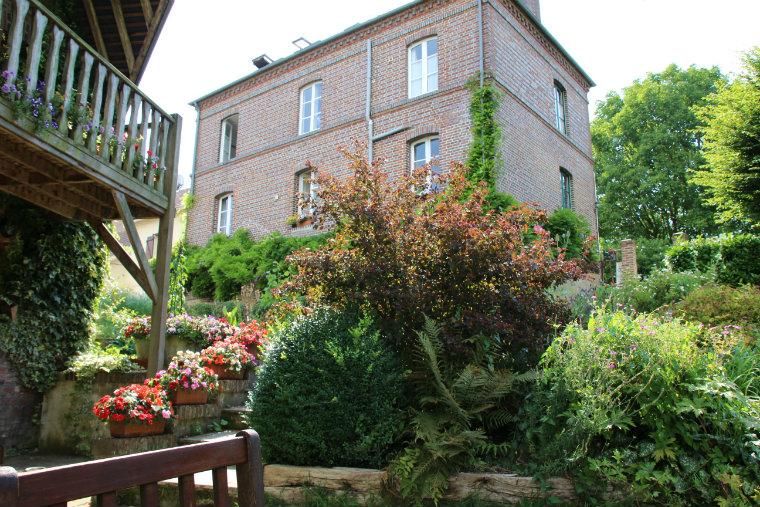 La Maison du vert vue de la terrasse