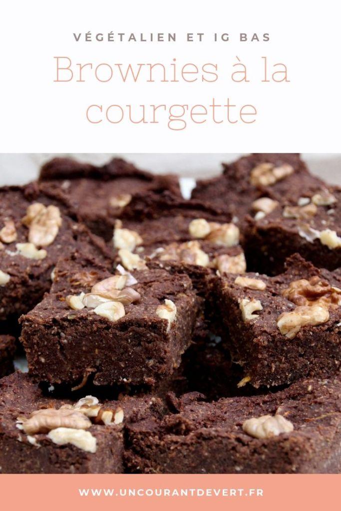Recette de brownies à la courgette végétaliens et à IG bas