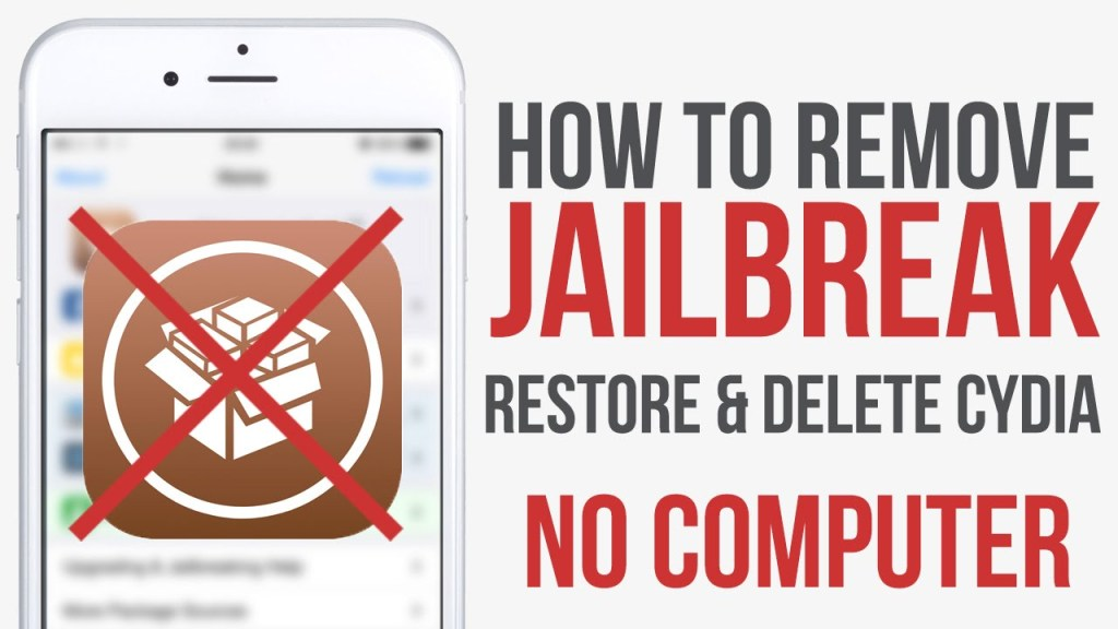 Unjailbreak iOS 12 Tutorial to Delete Uncover or Chimera and Uninstall Cydia – Once you've jailbroken iOS 12 – 12.1.2, you may want to remove the jailbreak (aka un-jailbreak), all Cydia tweaks, the Unc0ver or Chimera app, and even Cydia entirely to start from scratch.