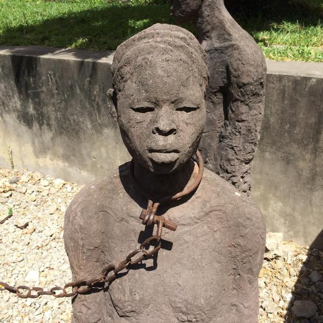 The slave market memorial in Stone Town Zanzibar  onehellip
