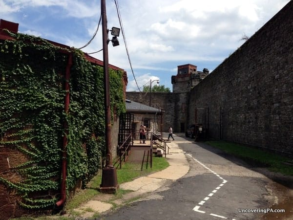 More outdoors space at Eastern State Penitentiary.