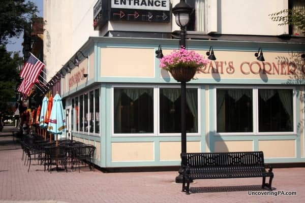 A corner cafe in downtown Stroudsburg, Pennsylvania.