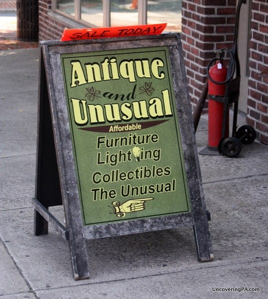 Downtown Stroudsburg is full of great, local shops, including one of the regions best antique shops.