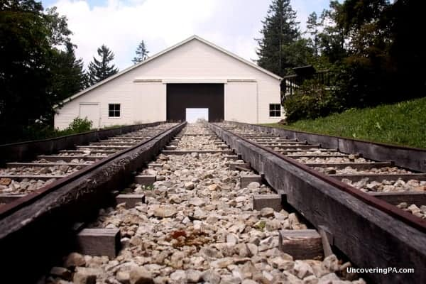 The rebuilt engine house at the Allegheny Portage Railroad National Historic Site.