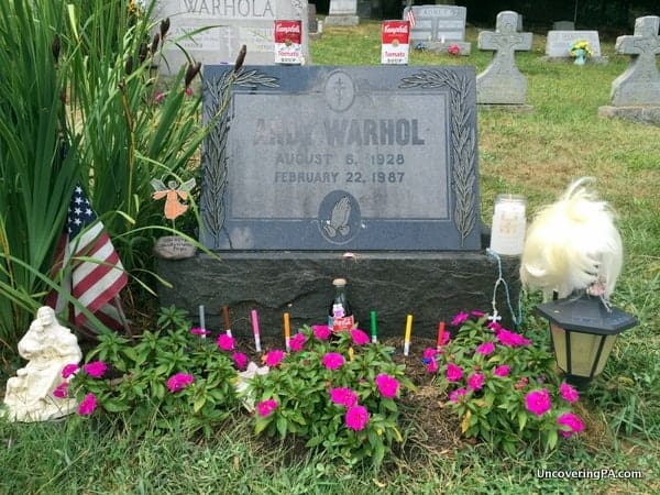 Andy Warhol's grave in Bethel Park, Pennsylvania.