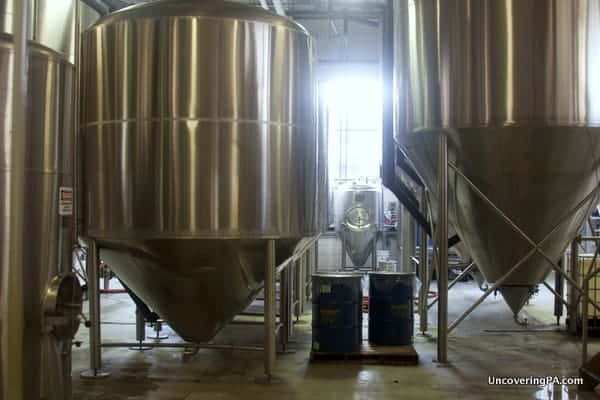 Kettles in the Yards Brewery.
