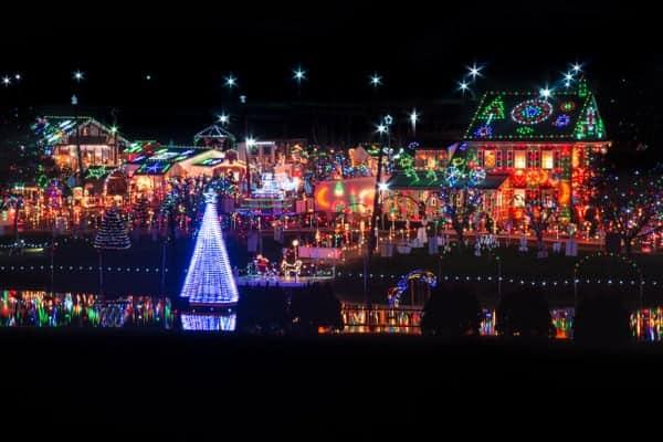 View of Koziar's Christmas Village near Reading, Pennsylvania