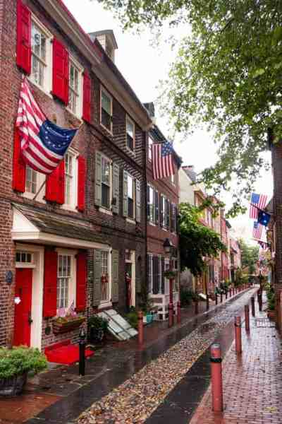 The history of Elfreth's Alley in Philadelphia, PA