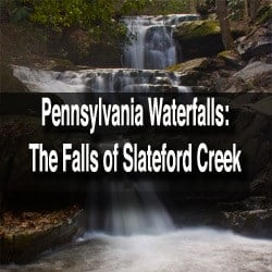 How to get to the Slateford Creek Waterfalls in Pennsylvania