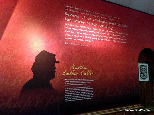 Poignant quotes line the walls of the Seminary Ridge Museum in Gettysburg, Pennsylvania.