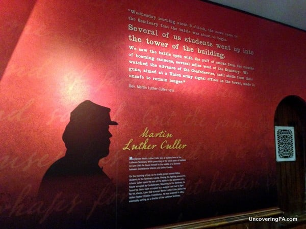 Poignant quotes line the walls of the Seminary Ridge Museum in Gettysburg, Pennsylvania.