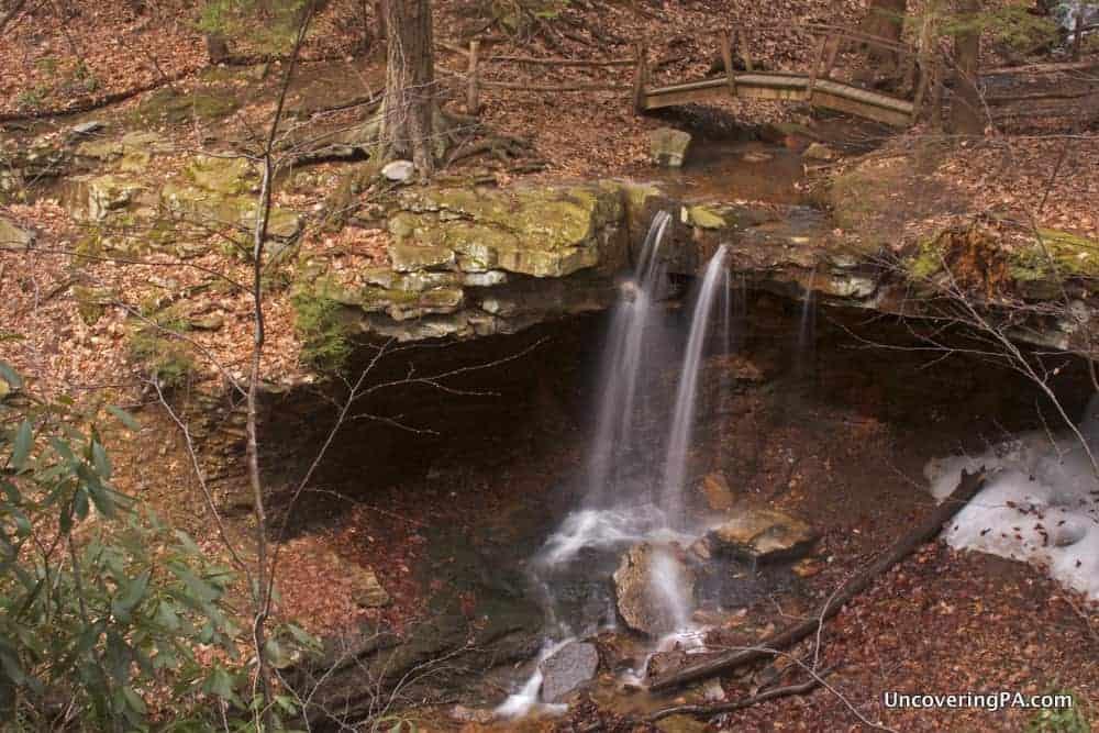 Visiting Adams Falls in Linn Run State Park, Westmoreland County, Pennsylvania.