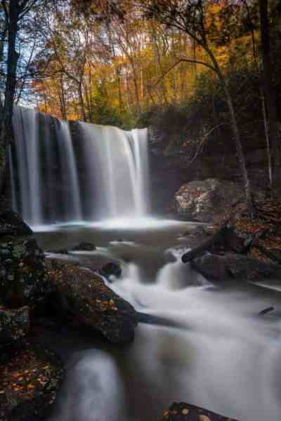 Where is Cucumber Falls in Ohiopyle State Park in Pennsylvania