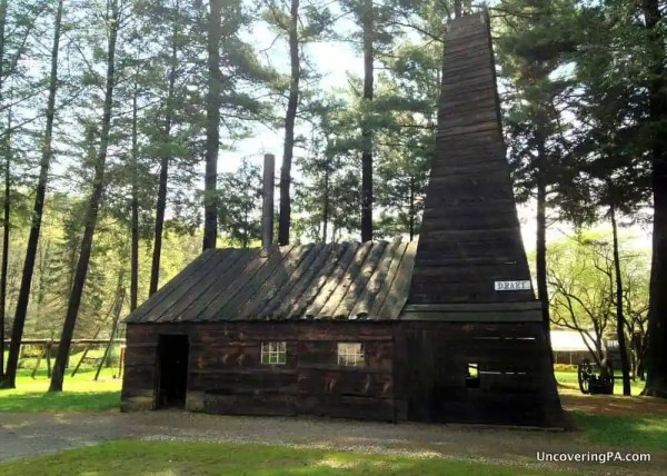 Visiting the Drake Well Museum in Venango County, Pennsylvania.
