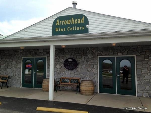 Arrowhead Wine Cellars store near Erie, Pennsylvania.