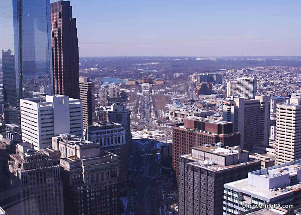 The view over Philly from the observation deck at Philadelphia's City Hall.