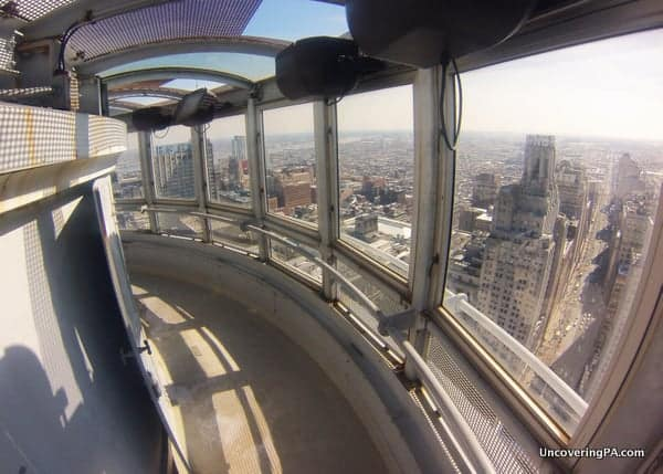 Best Photo Spots in Philadelphia: The observation deck at Philadelphia's City Hall.