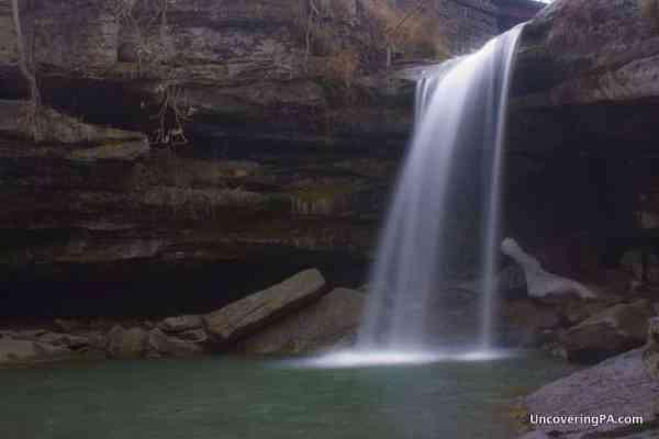 Homestead Falls (also known as Buttermilk Falls) in Beaver County, Pennsylvania.