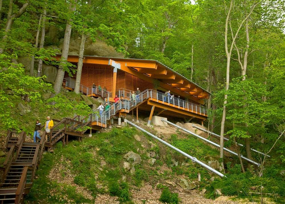 Visiting the Meadowcroft Rockshelter and Historic Village in Avella, Pennsylvania (Photo used courtesy of Meadowcroft Rockshelter: copyright Ed Massery)