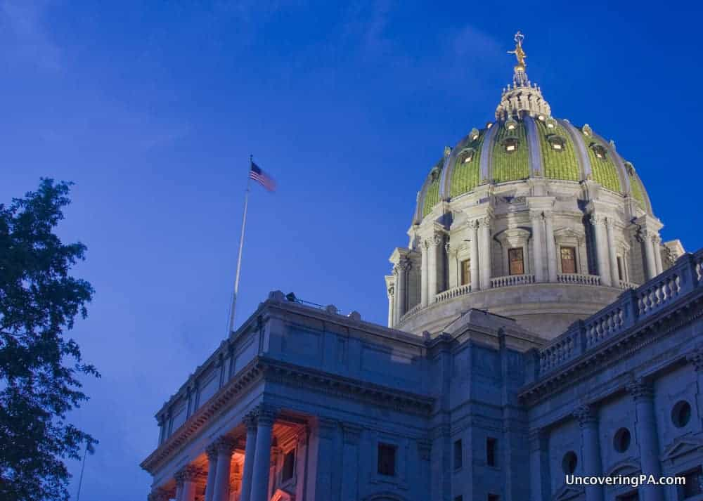 Taking a tour of the Pennsylvania State Capitol in Harrisburg.
