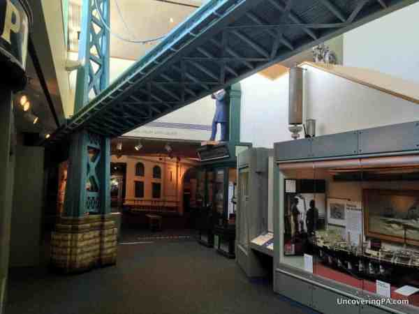 The interior of the Independence Seaport Museum.